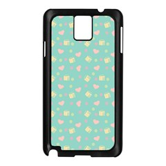 Teal Milk Hearts Samsung Galaxy Note 3 N9005 Case (black)