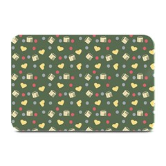 Green Milk Hearts Plate Mats