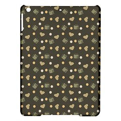 Charcoal Grey  Milk Hearts Ipad Air Hardshell Cases by snowwhitegirl