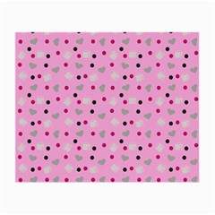 Pink Milk Hearts Small Glasses Cloth