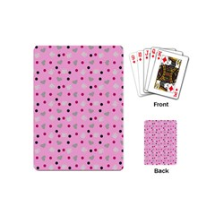 Pink Milk Hearts Playing Cards (mini)