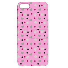 Pink Milk Hearts Apple Iphone 5 Hardshell Case With Stand