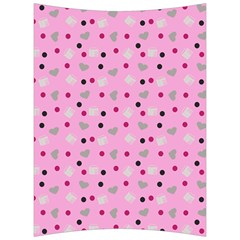 Pink Milk Hearts Back Support Cushion