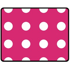 Pink Dot Fleece Blanket (medium)