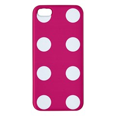 Pink Dot Apple Iphone 5 Premium Hardshell Case