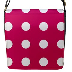 Pink Dot Flap Messenger Bag (s) by snowwhitegirl