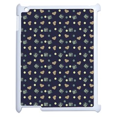 Blue Milk Hearts Apple Ipad 2 Case (white)