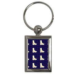 Navy Boots Key Chains (rectangle)