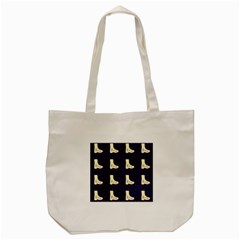 Navy Boots Tote Bag (cream)