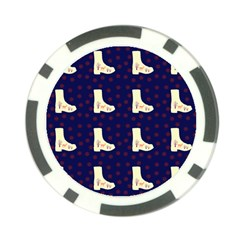 Navy Boots Poker Chip Card Guard (10 Pack)