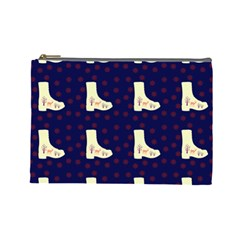 Navy Boots Cosmetic Bag (large)