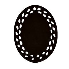 Dark Brown Oval Filigree Ornament (two Sides)