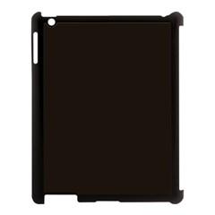 Dark Brown Apple Ipad 3/4 Case (black)