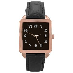 Dark Brown Rose Gold Leather Watch  by snowwhitegirl