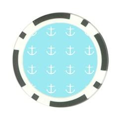 Aqua Anchor Poker Chip Card Guard