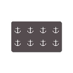 Grey Anchors Magnet (name Card)