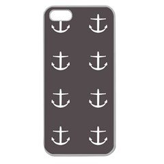 Grey Anchors Apple Seamless Iphone 5 Case (clear)