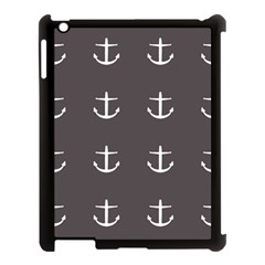 Grey Anchors Apple Ipad 3/4 Case (black)