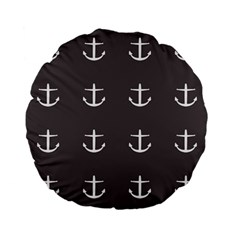Grey Anchors Standard 15  Premium Flano Round Cushions by snowwhitegirl
