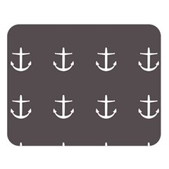 Grey Anchors Double Sided Flano Blanket (large)