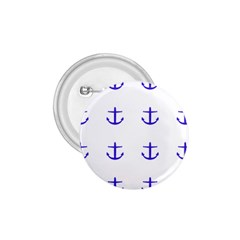 Royal Anchors On White 1 75  Buttons