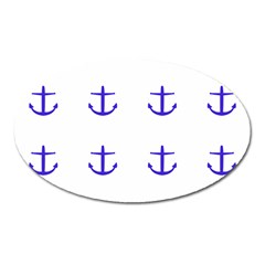 Royal Anchors On White Oval Magnet by snowwhitegirl