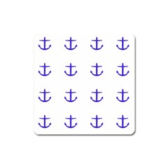 Royal Anchors On White Square Magnet