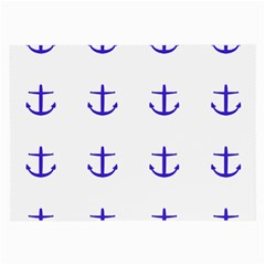 Royal Anchors On White Large Glasses Cloth