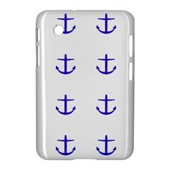 Royal Anchors On White Samsung Galaxy Tab 2 (7 ) P3100 Hardshell Case