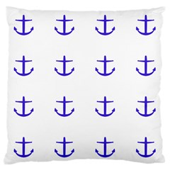 Royal Anchors On White Standard Flano Cushion Case (two Sides)