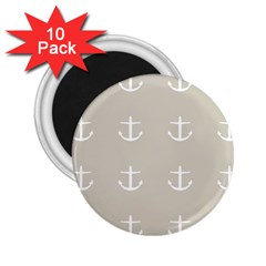 Lt Grey Anchors 2 25  Magnets (10 Pack)