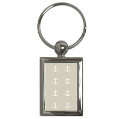 Lt Grey Anchors Key Chains (rectangle)
