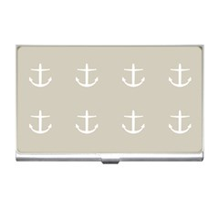 Lt Grey Anchors Business Card Holders