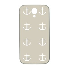 Lt Grey Anchors Samsung Galaxy S4 I9500/i9505  Hardshell Back Case