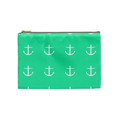 Seafoam Anchors Cosmetic Bag (medium)