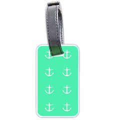 Seafoam Anchors Luggage Tags (one Side)