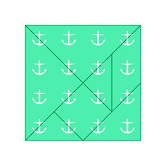 Seafoam Anchors Acrylic Tangram Puzzle (4  X 4 )