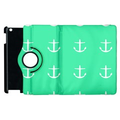 Seafoam Anchors Apple Ipad 2 Flip 360 Case