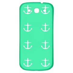Seafoam Anchors Samsung Galaxy S3 S Iii Classic Hardshell Back Case
