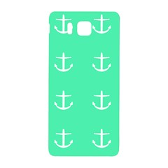 Seafoam Anchors Samsung Galaxy Alpha Hardshell Back Case