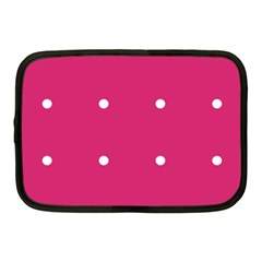 Small Pink Dot Netbook Case (medium) by snowwhitegirl