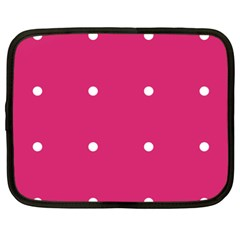 Small Pink Dot Netbook Case (xxl) by snowwhitegirl