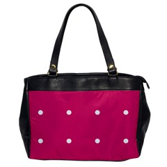 Small Pink Dot Office Handbags