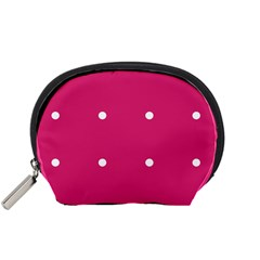 Small Pink Dot Accessory Pouch (small)