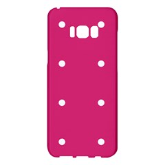 Small Pink Dot Samsung Galaxy S8 Plus Hardshell Case