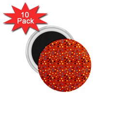 Red Retro Dots 1 75  Magnets (10 Pack)
