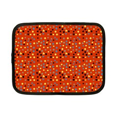Red Retro Dots Netbook Case (small) by snowwhitegirl