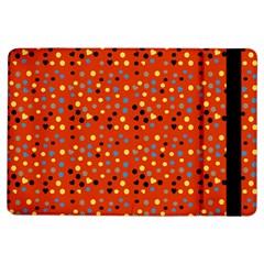 Red Retro Dots Ipad Air Flip