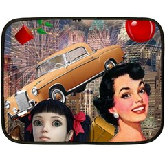 Out In The City Double Sided Fleece Blanket (mini)