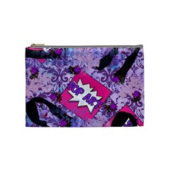Purple Retro Pop Cosmetic Bag (medium)